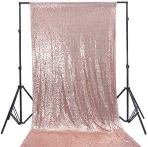#2 Rose Gold and Aqua Backdrop